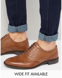Zapatos brogue de cuero marrónes de Asos