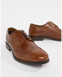 Zapatos brogue de cuero marrónes de Burton Menswear