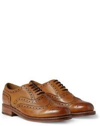 Zapatos brogue de cuero marrónes de Grenson