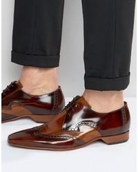 Zapatos Brogue de Cuero Marrónes de Jeffery West