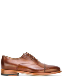 Zapatos brogue de cuero marrónes de Paul Smith