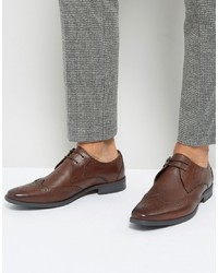 Zapatos brogue de cuero marrónes de Silver Street