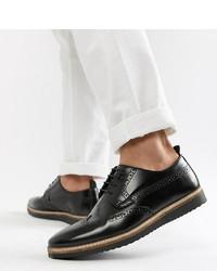 Zapatos brogue de cuero negros de ASOS DESIGN