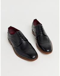 Zapatos brogue de cuero negros de Base London