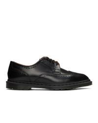 Zapatos brogue de cuero negros de Dr. Martens