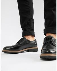 Zapatos brogue de cuero negros de Dune