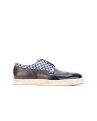Zapatos brogue de cuero negros de Etro