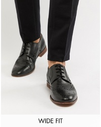 Zapatos brogue de cuero negros de Kg Kurt Geiger