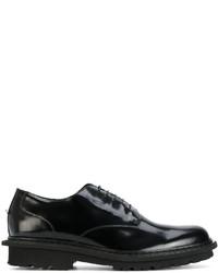Zapatos brogue de cuero negros de Neil Barrett