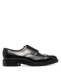 Zapatos brogue de cuero negros de Polo Ralph Lauren