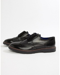 Zapatos brogue de cuero negros de Silver Street
