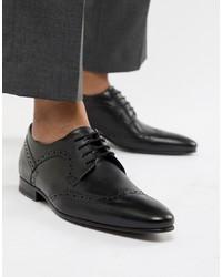 Zapatos brogue de cuero negros de Ted Baker