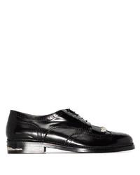 Zapatos brogue de cuero negros de Toga