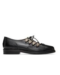 Zapatos brogue de cuero negros de Toga Virilis