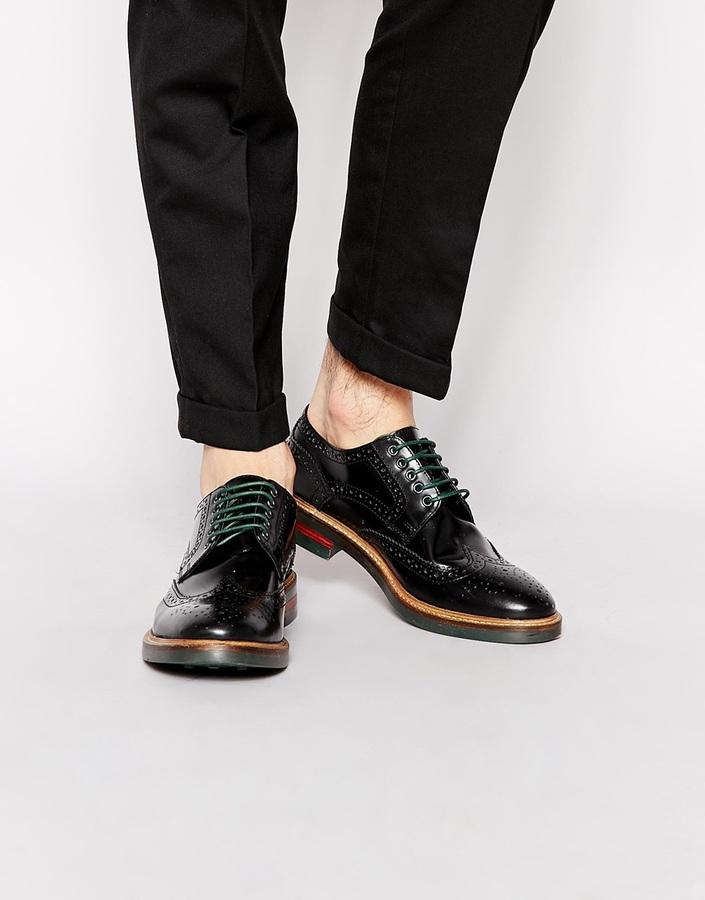 Zapatos negros Base London para hombre MDWiGnw8oJ