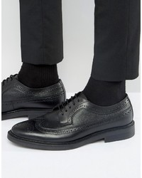 Zapatos Brogue de Cuero Negros de Zign Shoes