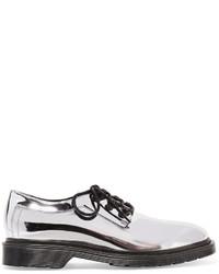 Zapatos brogue de cuero plateados de MM6 MAISON MARGIELA