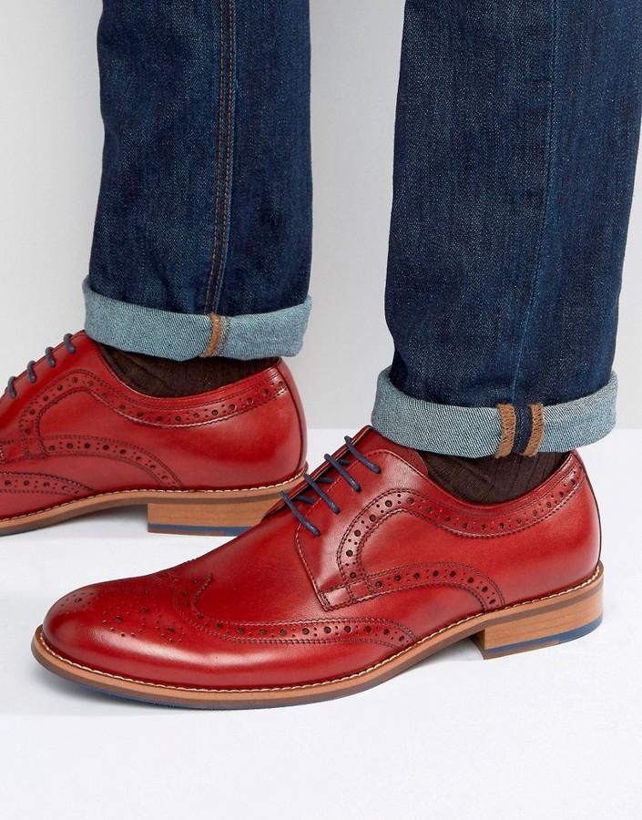 Zapatos rojos Dune para hombre 24sczIbey