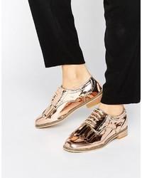 Zapatos brogue dorados de Asos