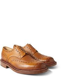 Zapatos brogue marrón claro