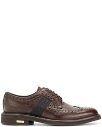 Zapatos brogue marrónes de Versace