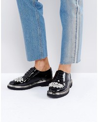 Zapatos Brogue Negros de Asos
