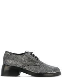 Zapatos con cordones de cuero en gris oscuro de Ann Demeulemeester