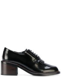 Zapatos con cordones de cuero negros de Robert Clergerie