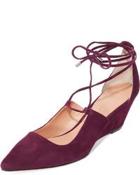 Zapatos con Cuña de Ante Burdeos de Sigerson Morrison