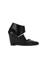 Zapatos con cuña de cuero negros de Uma Raquel Davidowicz