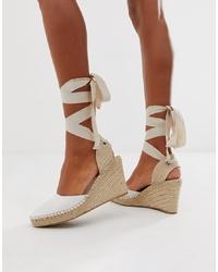 Zapatos con cuña de lona blancos de ASOS DESIGN