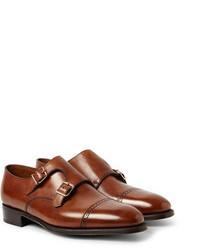 Zapatos con doble hebilla de cuero marrónes de John Lobb