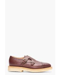 Zapatos con Doble Hebilla de Cuero Marrónes de Mark McNairy