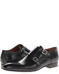 Zapatos con doble hebilla de cuero negros
