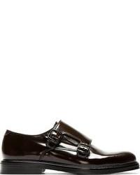 Zapatos con Doble Hebilla de Cuero Negros de Carven