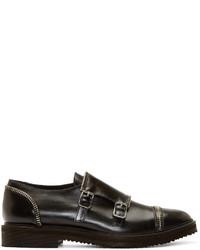 Zapatos con Doble Hebilla de Cuero Negros de Giuseppe Zanotti