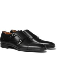 Zapatos con doble hebilla de cuero negros de Hugo Boss