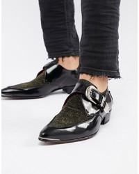 Zapatos con doble hebilla de cuero negros de Jeffery West