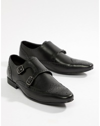 Zapatos con doble hebilla de cuero negros de Kg Kurt Geiger