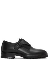 Zapatos con doble hebilla de cuero negros de Lanvin