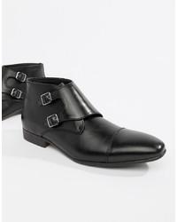 Zapatos con Doble Hebilla de Cuero Negros de Truffle Collection