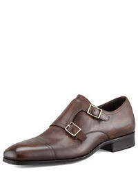 Zapatos con doble hebilla en marron oscuro original 8630990