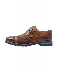 Zapatos con Doble Hebilla Marrónes
