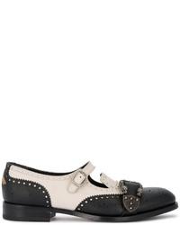 Zapatos con doble hebilla negros de Gucci
