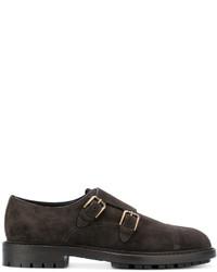Zapatos con Hebilla de Ante en Marrón Oscuro de Dolce & Gabbana