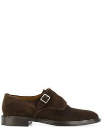 Zapatos con hebilla de ante en marrón oscuro de Givenchy