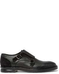 Zapatos con hebilla de ante negros de Alexander McQueen
