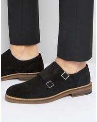 Zapatos con hebilla de ante negros de Asos