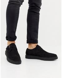 Zapatos con hebilla de ante negros de Truffle Collection