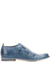 Zapatos con hebilla de cuero azules de Officine Creative